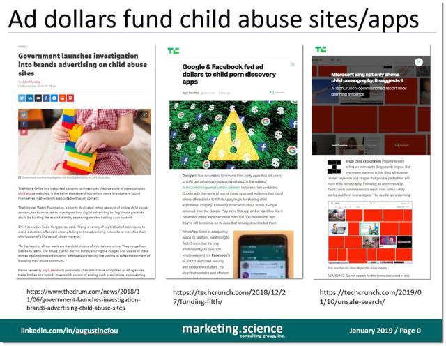 examples of ad dollars flowing to child abuse sites