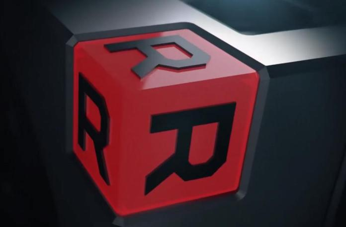 Radeon ″monogram logo″ from the Radeon VII graphics card