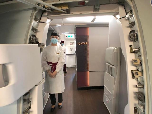 Qatar Airways flight attendant