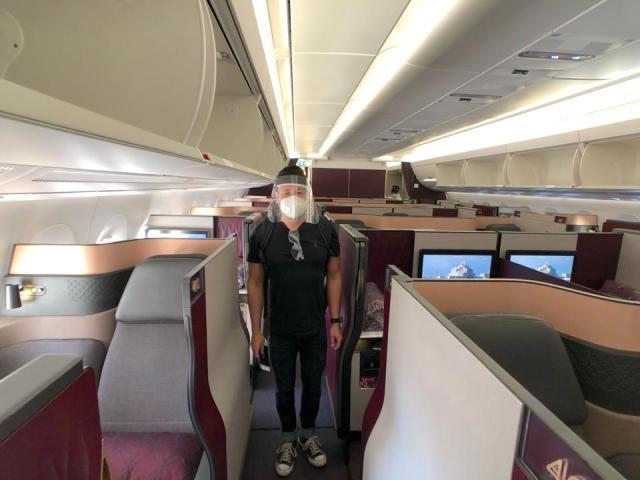 Qatar Airways aisle