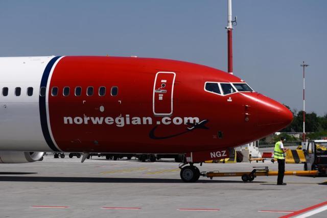 Norwegian Air Boeing 737 Max 8 Aircraft seen at the Krakow...