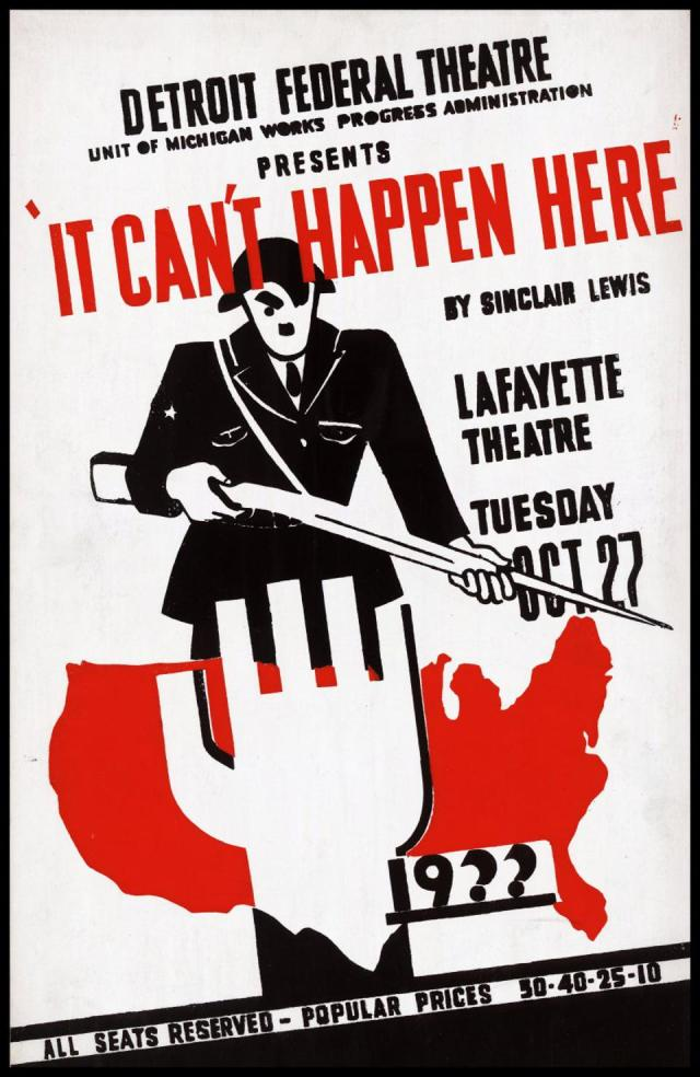 It Can't Happen Here production poster