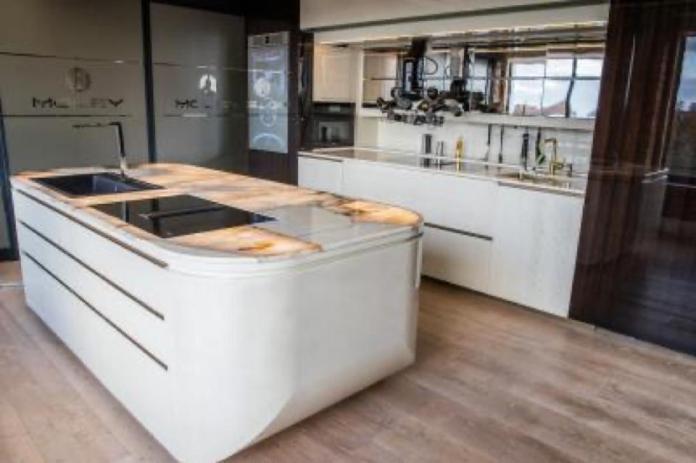 A robotic kitchen module.