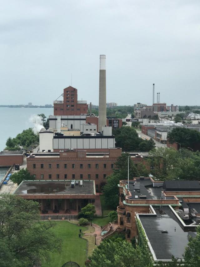 The Hiram Walker Distillery in WIndsor, Ontario