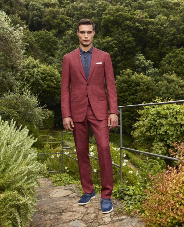 STEFANO RICCI Spring/Summer 2021: Two button deconstructed jacket, exclusive SR cashmere and silk blend   Reference code: M1RMGD200I-HC563-5635