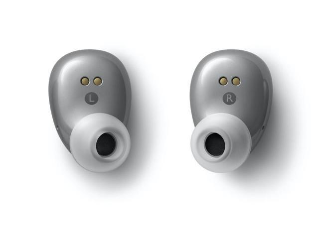 Overhead shot of KEF Mu3 earphones
