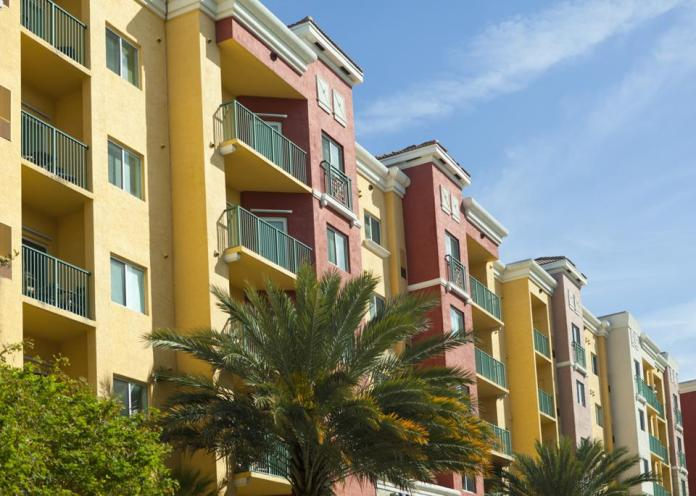 Colorful Apartment Building in Florida