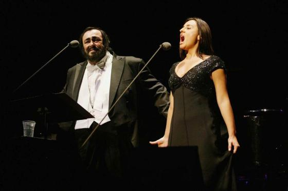 Luciano Pavarotti performs in London