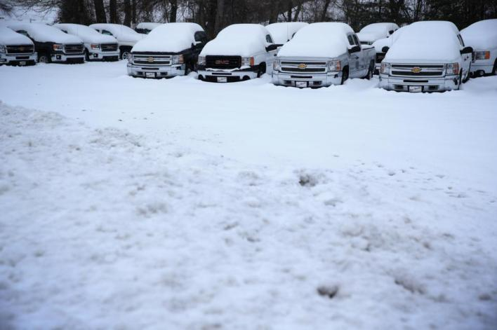 Washington DC Copes With Messy Winter Storm