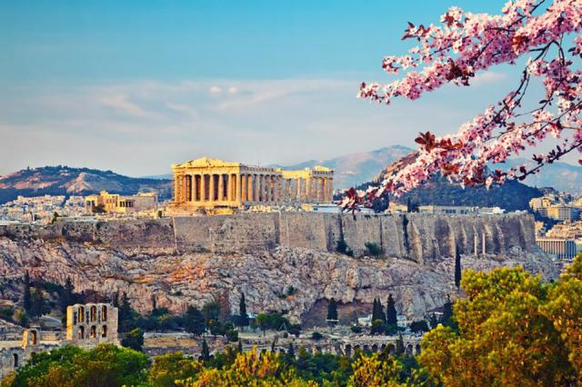 Panoramic view of Acropolis in Athens