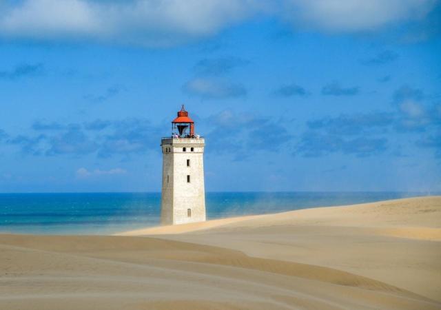 The famous Lighthouse of Rubjerg Knude, Denmark