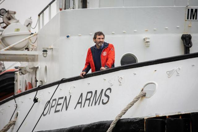 The Director Of Proactiva Open Arms, Oscar Camps, Reports On The Situation In The Mediterranean