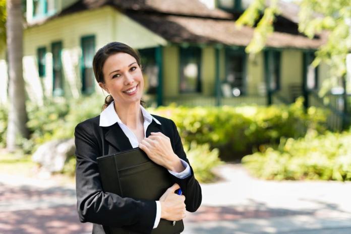 Smiling Real Estate Agent