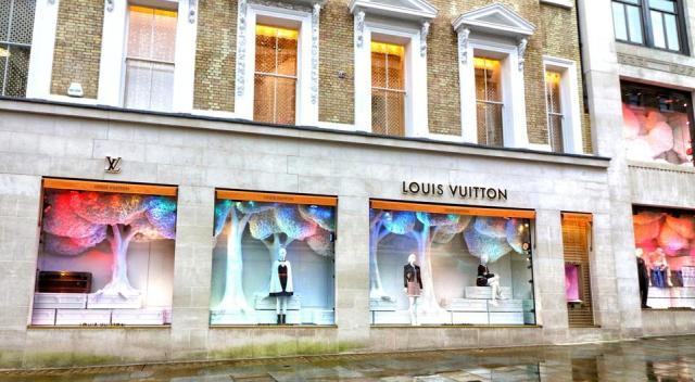 Louis Vuitton store in Bond Street, London, UK.