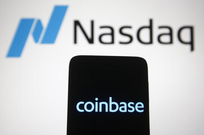 Coinbase and Nasdaq