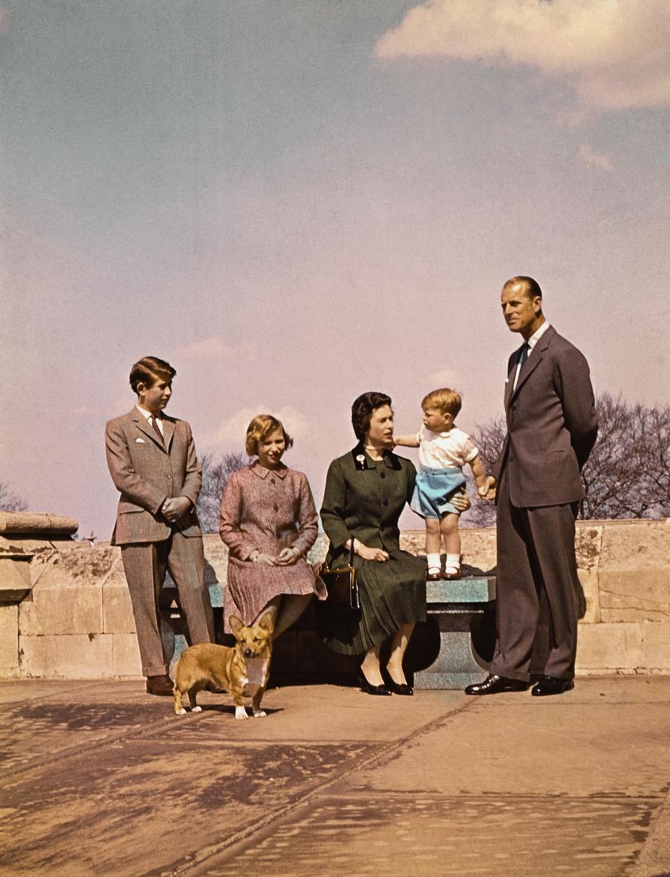 Royal Family in Balmoral 1960