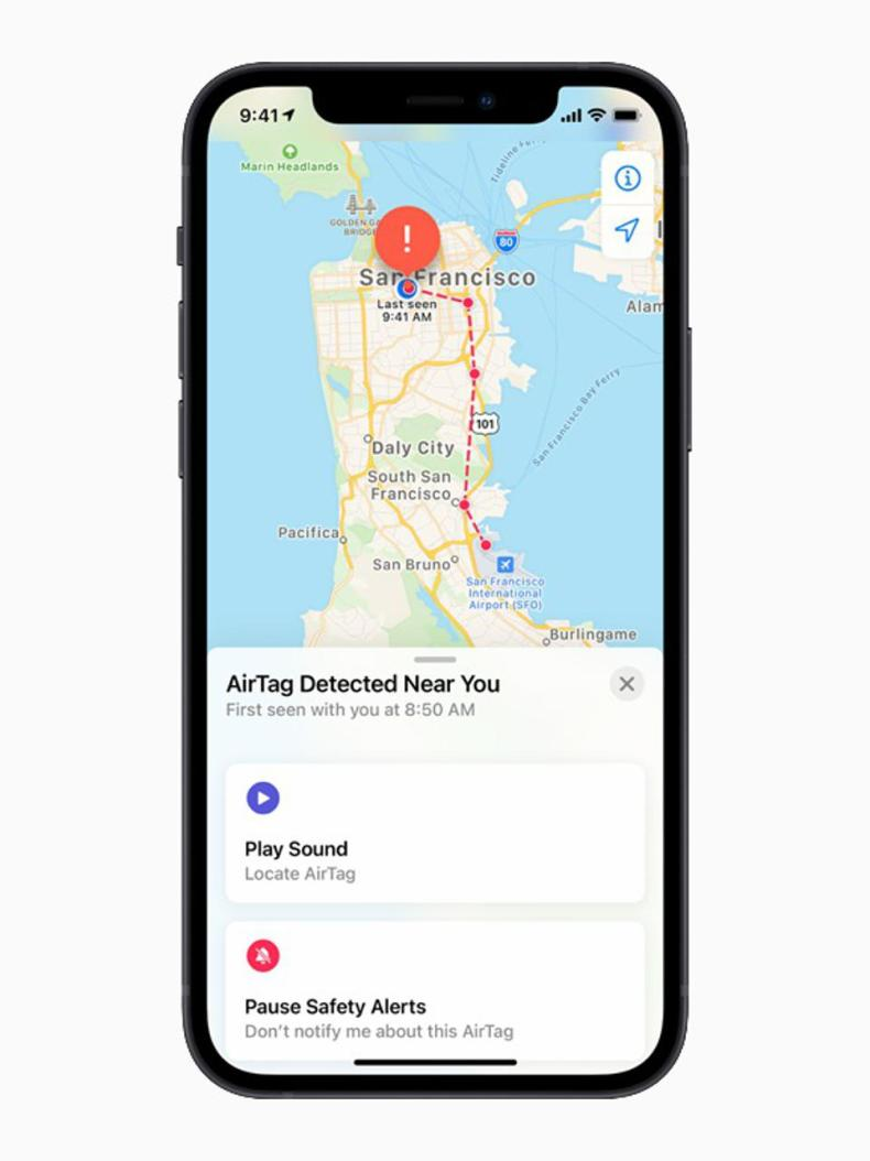 The new Apple AirTag item tracker and location finder will alert you to unknown tags found near you.