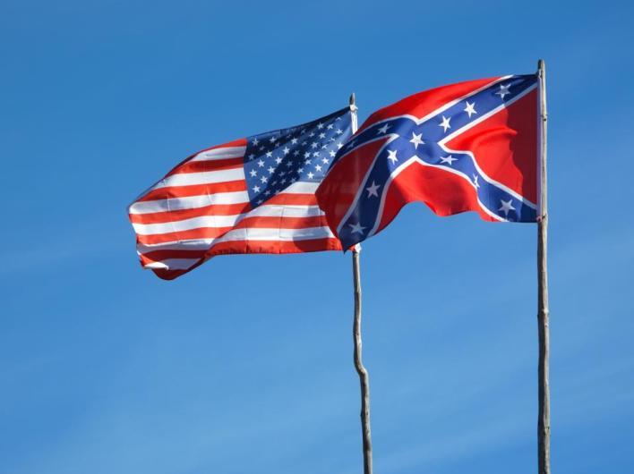 Flags of American civil war