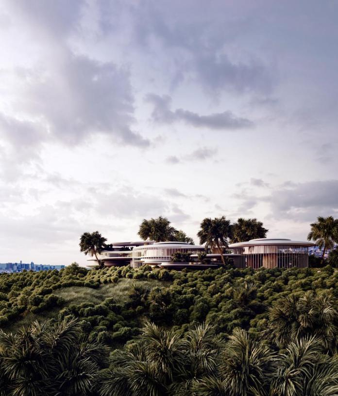 sustainable compound concept by alex nerovnya for beverly hills 2001 Benedict Canyon