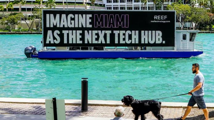 Reef technology miami tech innovation real estate advertising