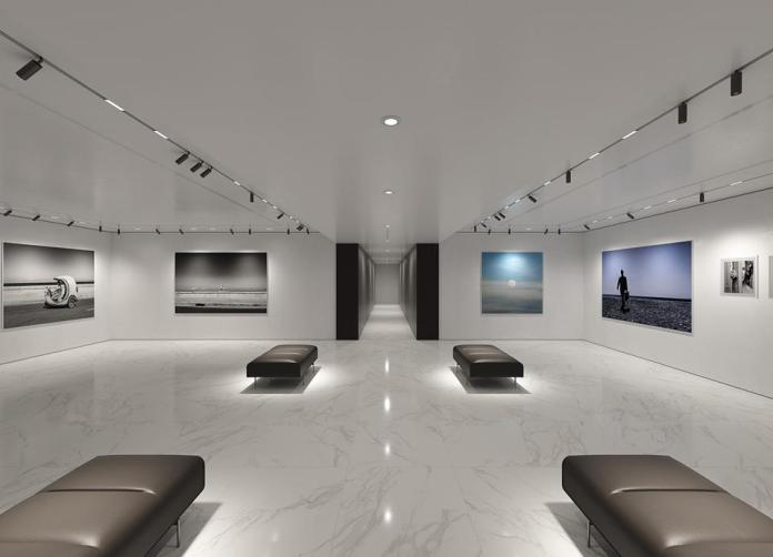 A rendering of the gallery once it will be completed