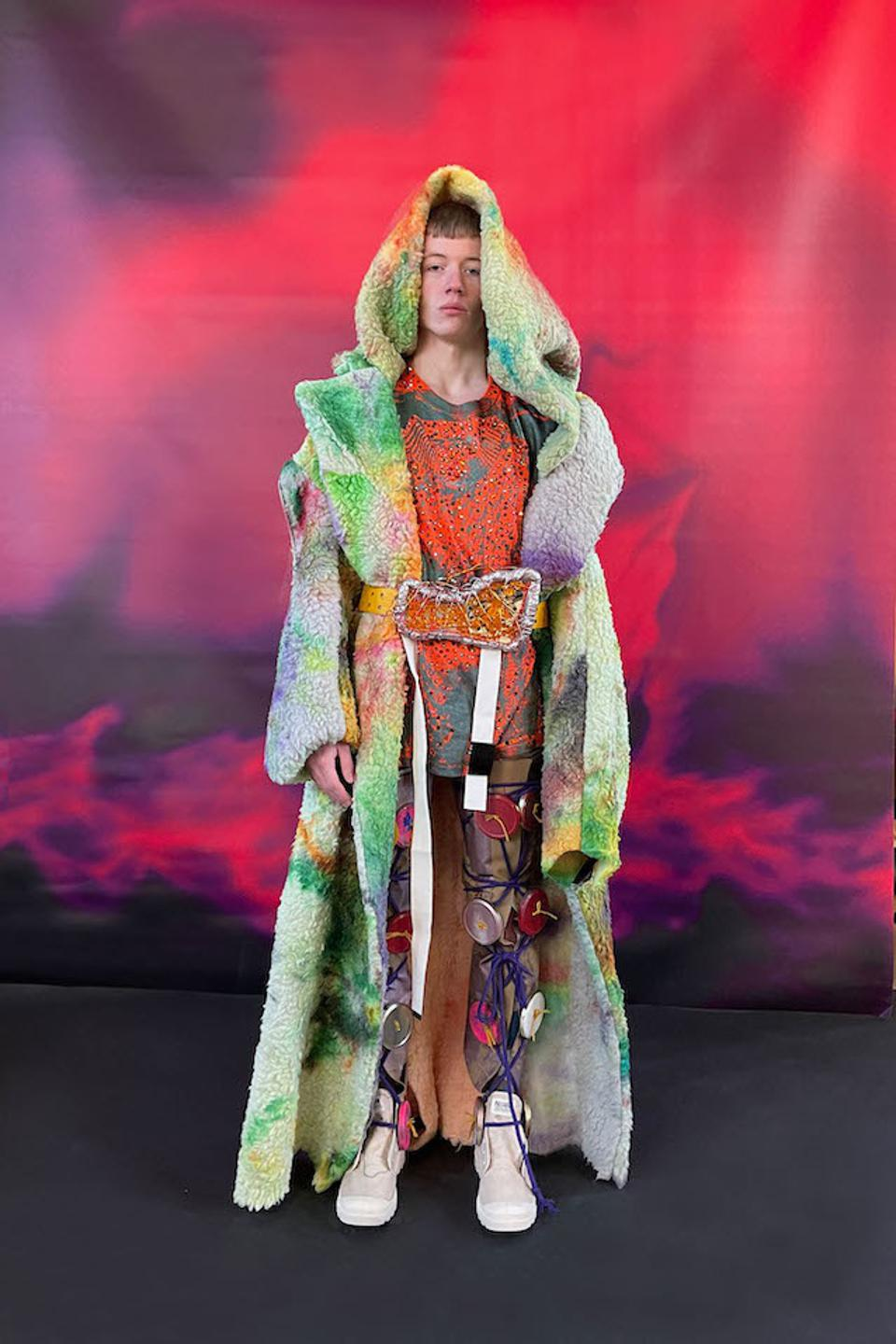Matty Bovan Autumn/Winter 2021; Look 22 from this collection formed part of his International Woolmark Prize submission