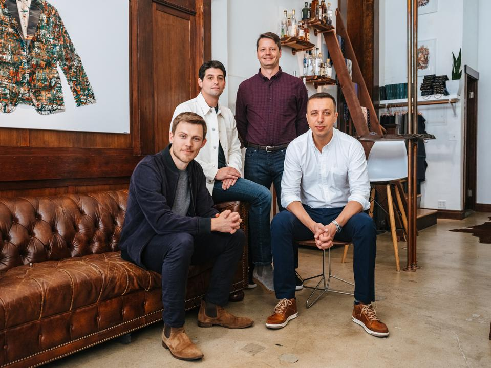 The four co-founders of online wholesale marketplace Faire.