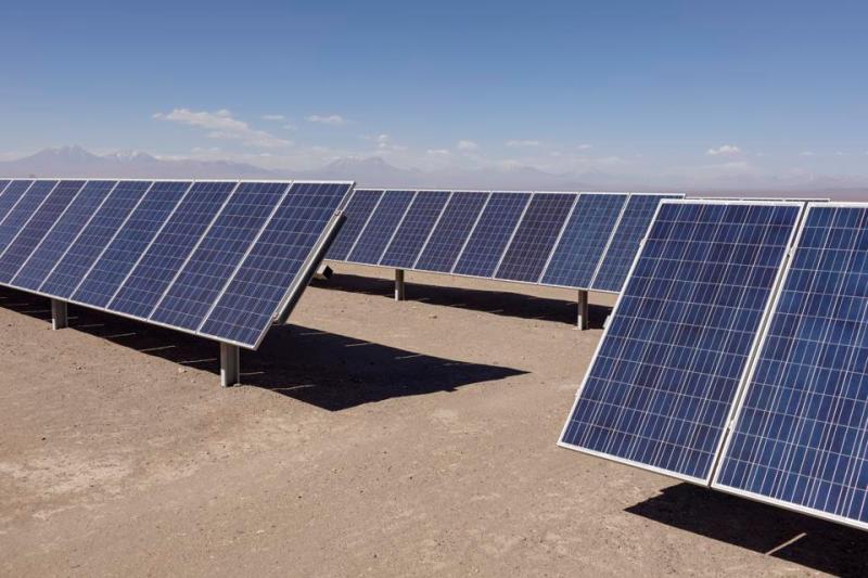 Solar field in Chile