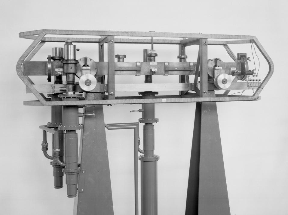First caesium atomic clock, 1955.
