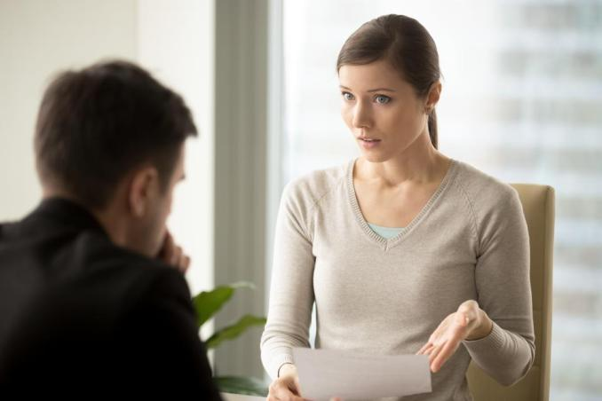 Irritated businesswoman disagree with bad contract, boss dissatisfied with report