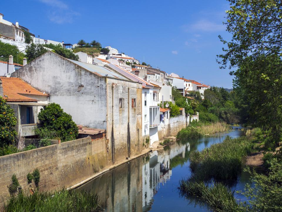 The river in Aljezur, a medieval town founded by the Moors...