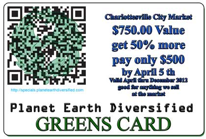 photo of Planet Earth Diversified Greens Card