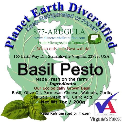 Basil Pesto Label