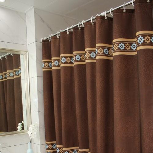 waterproof fabric bathroom curtain set