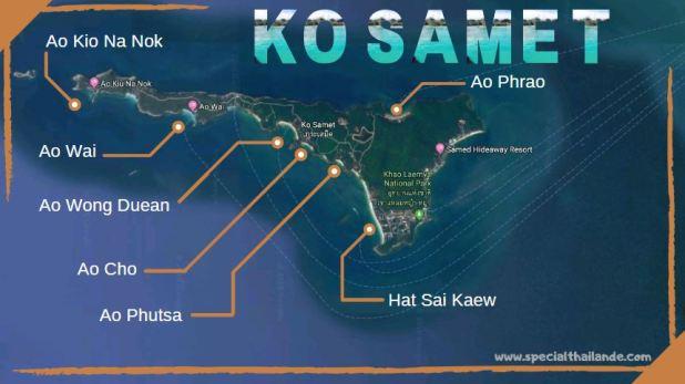 Carte de Ko Samet plage