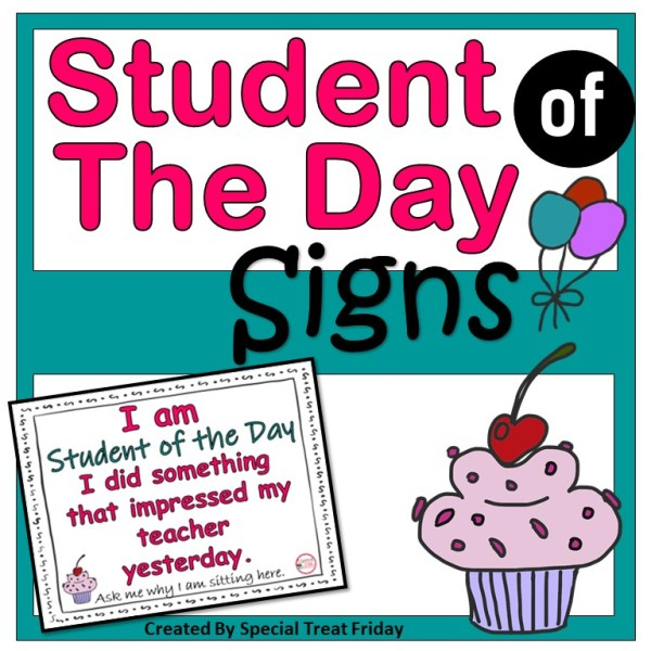 Student of the Day Signs