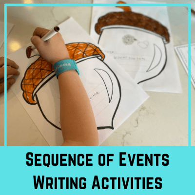 Sequence of Events Writing Activities