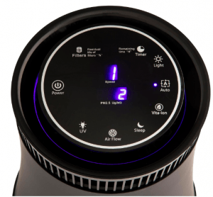 Silver Onyx Air Purifier for Pollution