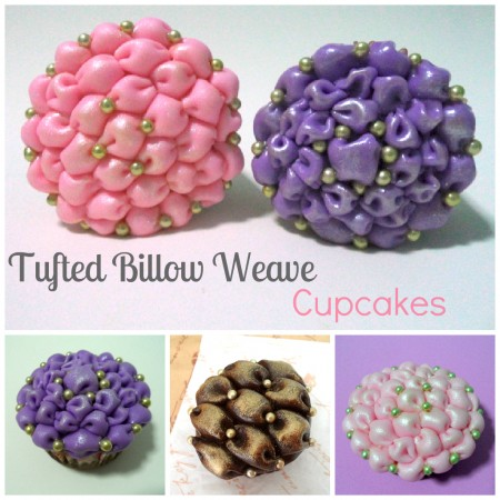 Tufted Billow Weave on Cupcakes