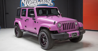 2015 HSV Supercharged Wrangler Jeep JK in Frozen Matte Pink