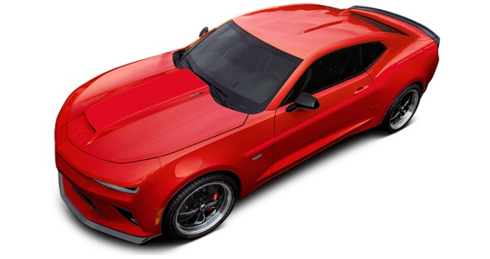 2018 Yenko Camaro Red Hot with Red Stripes