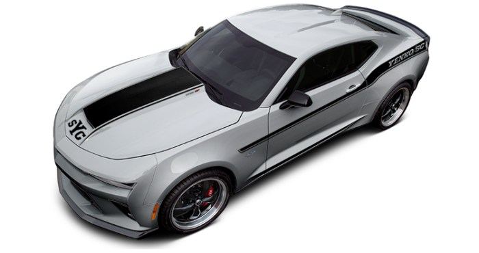 2018 Yenko Camaro Silver Ice Metallic with Black Stripes