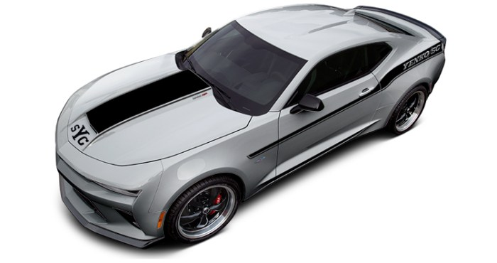 2018 Yenko Camaro Silver Ice Metallic with Flat Black Stripes
