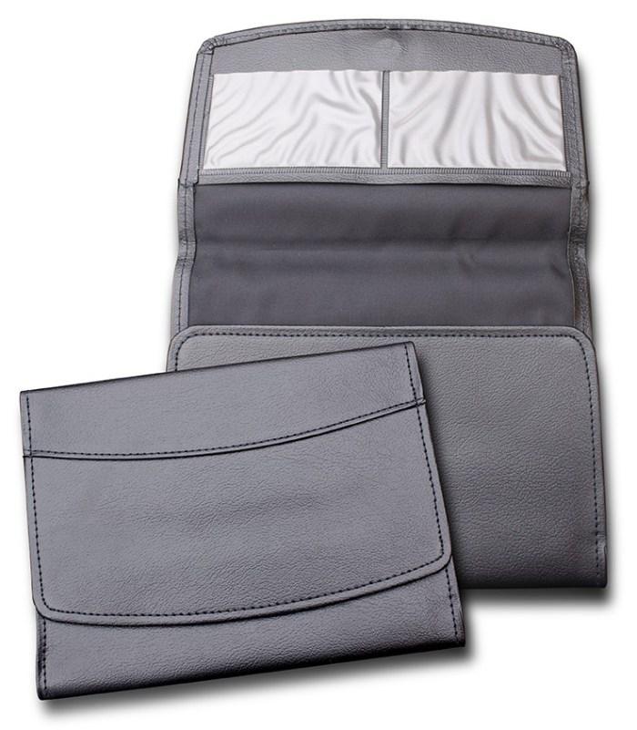 Image of the faux leatherbound portfolio