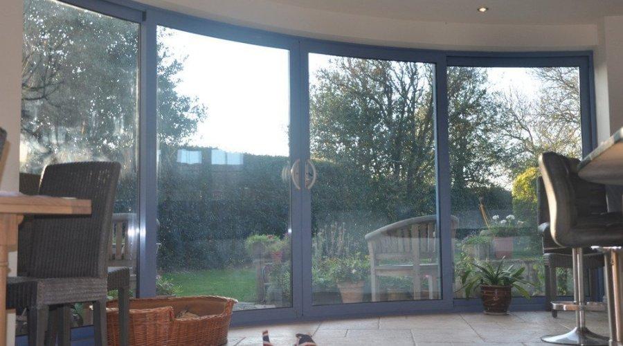 curved patio door