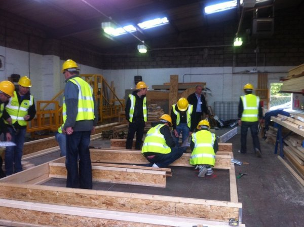 The_participants_take_part_in_a_build_a_floor_session_part_of_james_jones_product_training_course