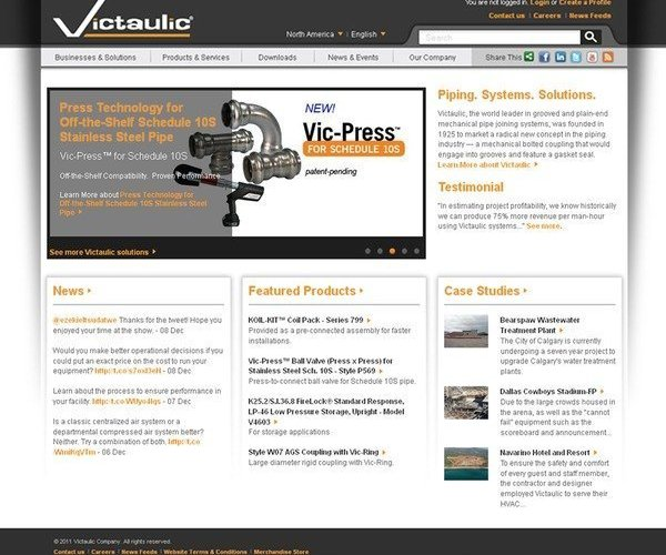 Victaulic Launches Innovative New Website - Mechanical Pipe Joining Made Easier Online