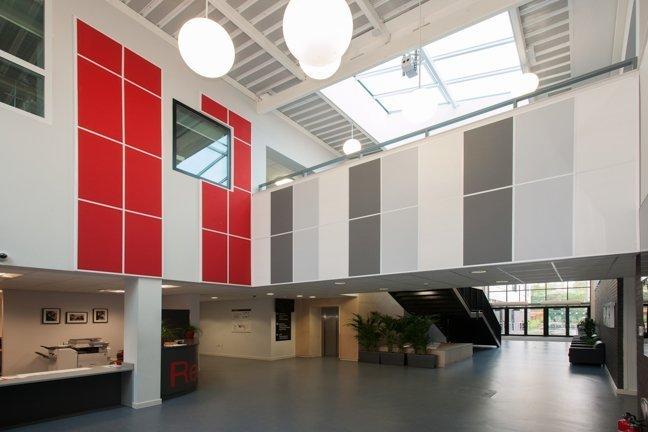 Rockfon Ceilings provide Colourful and Acoustic solutions to new Heartlands Academy