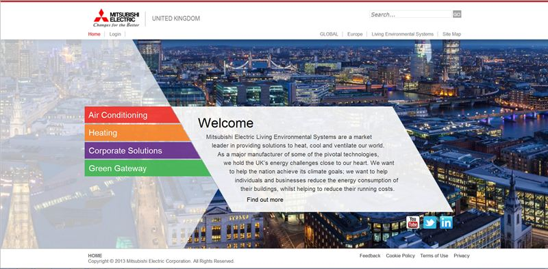 Mitsubishi Electric revamps website to highlight complete solutions
