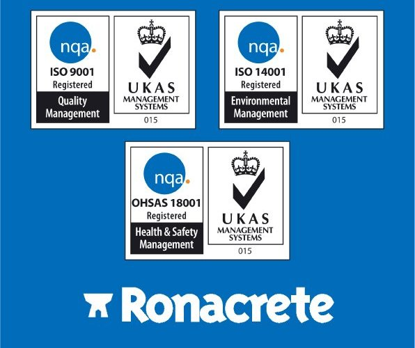 Ronacrete receives third ISO accreditation OHSAS 18001